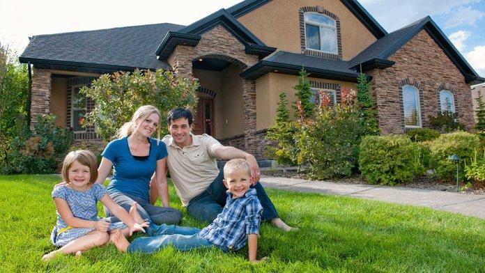 Многодетная семья и дом