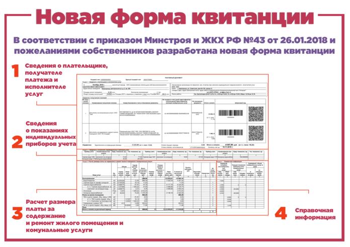 Новая форма квитанции за коммунальные услуги 2019