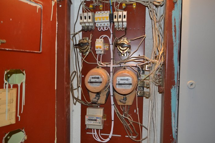 Приборный щиток с счетчиком учета электроэнергии