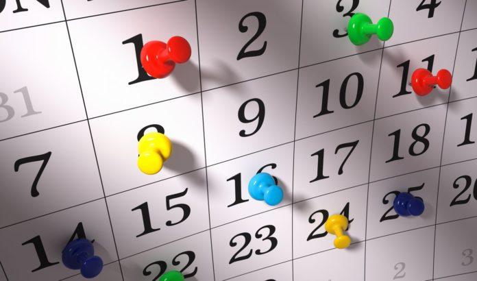 Календарь с пометками