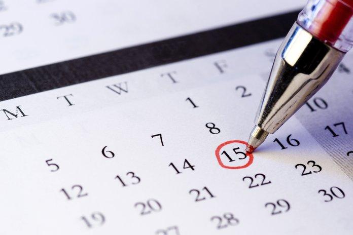Пометка важной даты в календаре