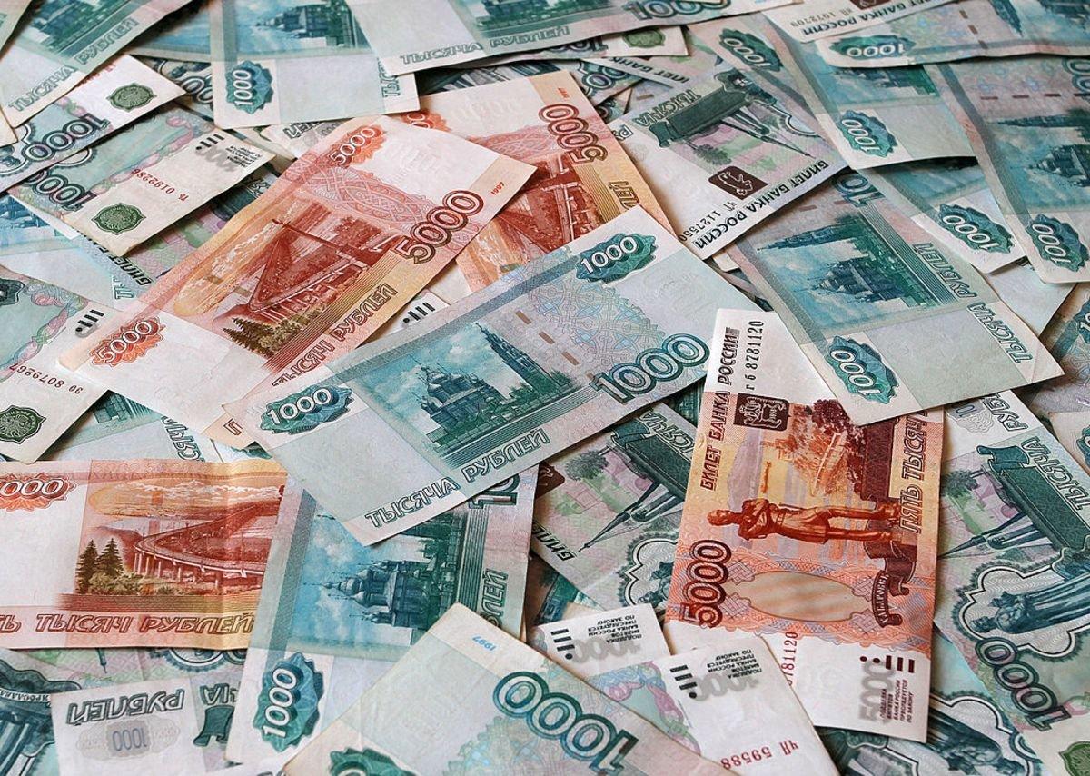 Картинка с изображением рублей
