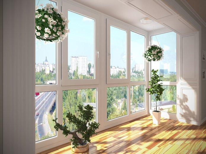 Красивые замененные пластиковые окна