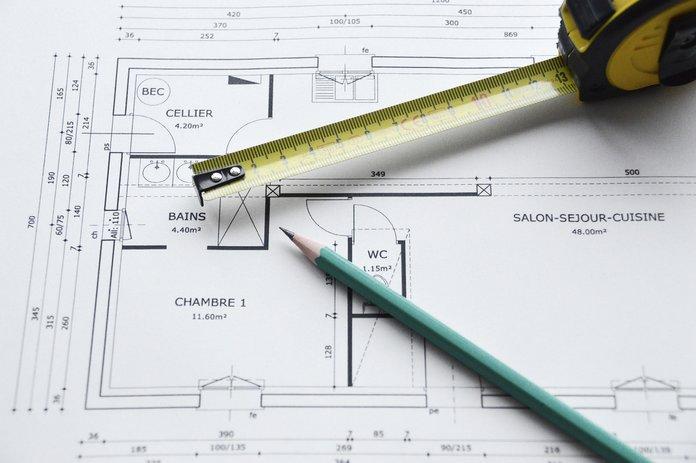 План квартиры и метр