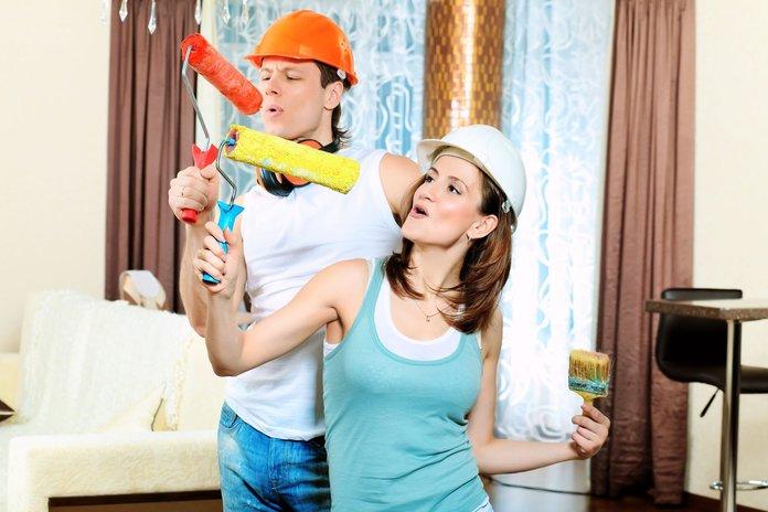Супруги радуются ремонту