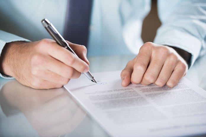 Подписание договора цессии